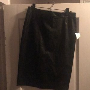 NWT faux leather pencil skirt